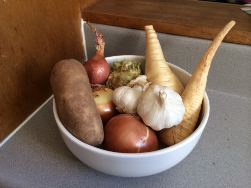 Root vegetable bounty