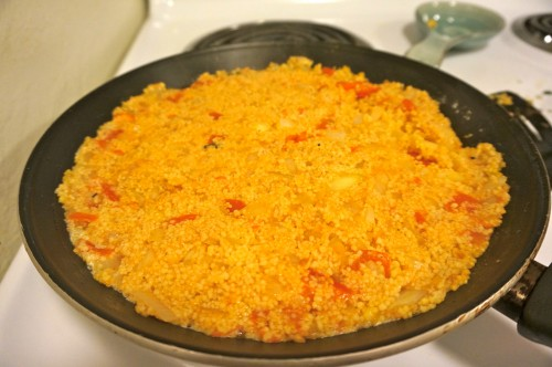 cous cous with tomatoes and onions