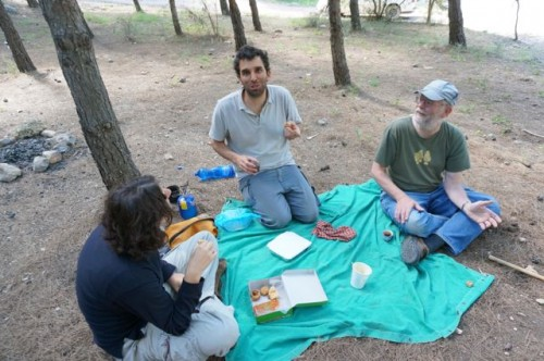 Enjoying a picnic in the pine forests