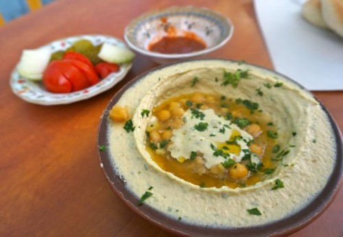 Hummus in the old city in Jerusalem