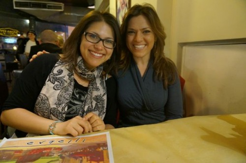 My cousin and I at the Yemenite restaurant
