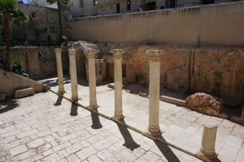 Roman ruins in the Jewish quarter of the old city of Jerusalem