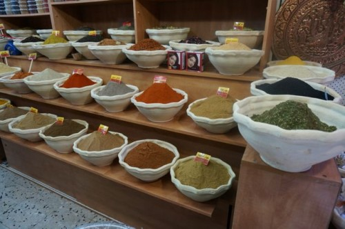 Spice shop in the old city in Jerusalem