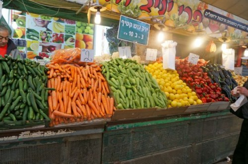 Vegetables in the arab shuk in Jerusalem