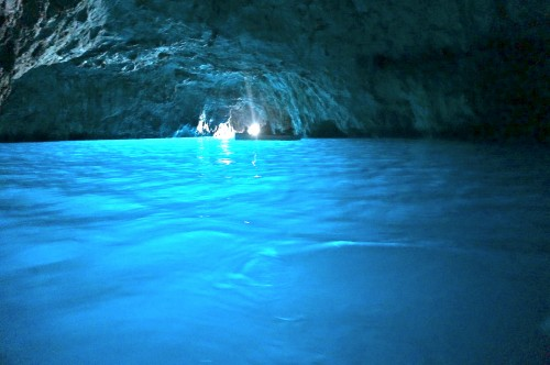 Blue grotto cave in Capri