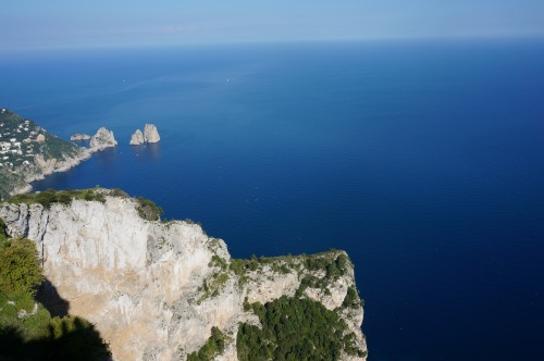 View from top of mountain in Capri