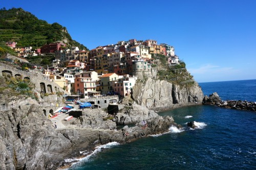 The town of Manarola in Cinque terre