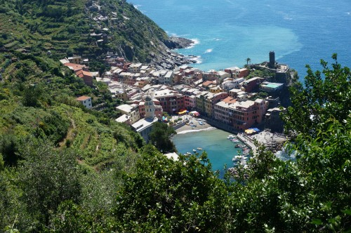 View of Vernazza from the trail