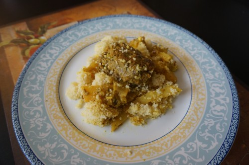 Beef meatballs with lemon and celeriac on a bed of couscous1